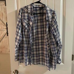 Torrid size 0 button up blouse top